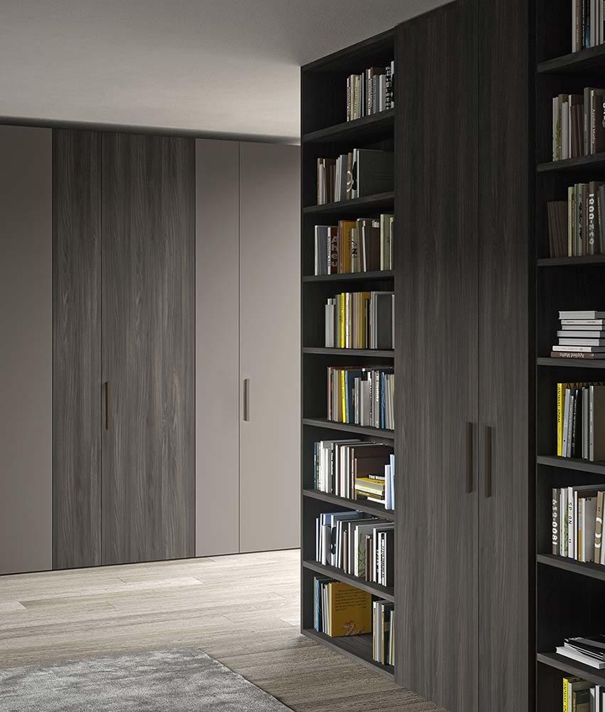 libreria con anta battente free e armadio