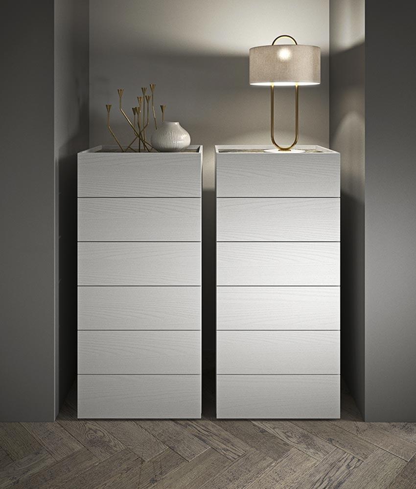 contenitori camera da letto legno bianco