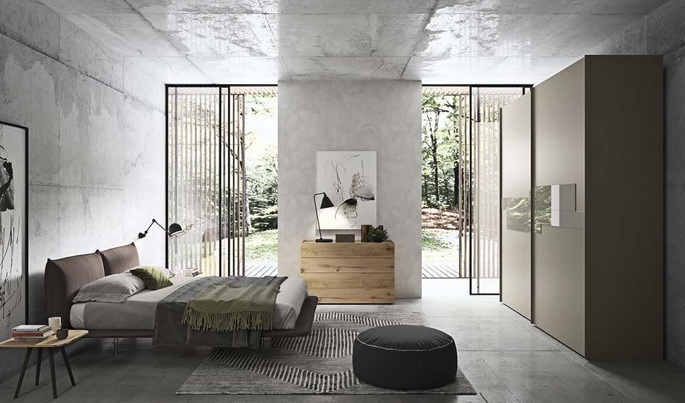 camera da letto con armadio tetris